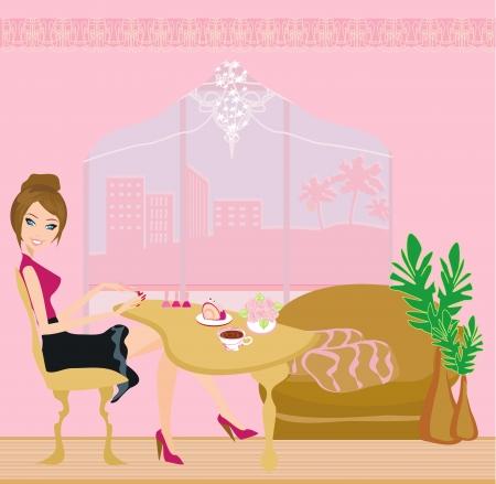 gel:  manicure lady  Illustration
