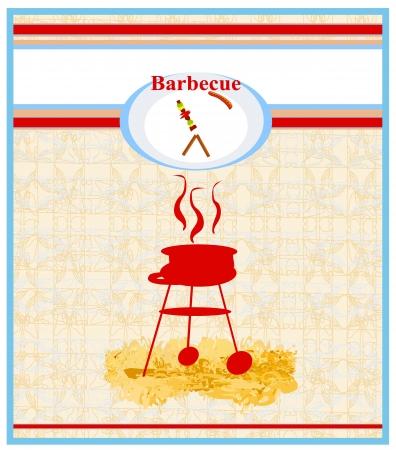 Barbecue Party Invitation Stock Vector - 17224875