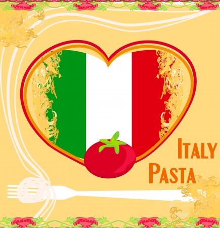 pasta pattern - Vintage style Stock Vector - 17224872