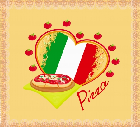 Pizza grunge poster Stock Vector - 17224871