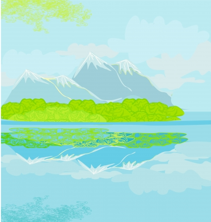 Vector landscape with mountains Stock Vector - 17245303