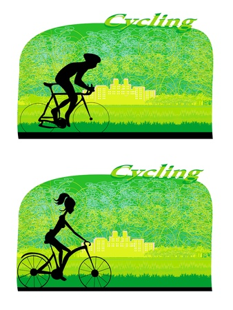 Cycling Poster  Stock Vector - 17274455