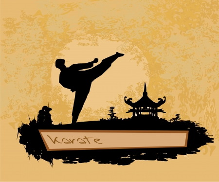 karate Grunge poster Stock Vector - 17317227