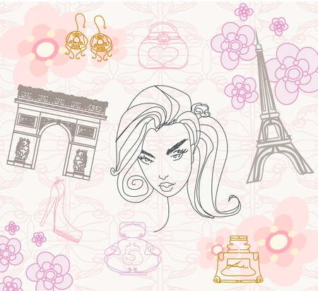 Paris seamless pattern  Stock Vector - 17354899