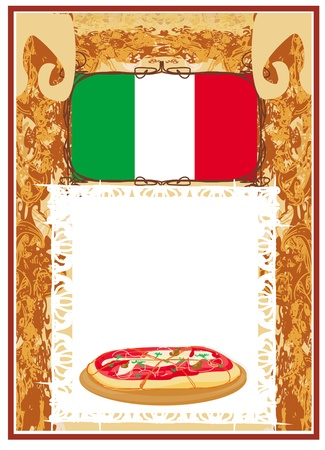 Pizza grunge poster  Vector