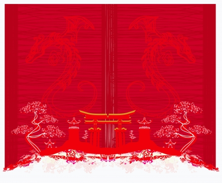 card of year of the dragon Stock Vector - 17377315