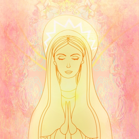 mother of jesus:  Blessed Virgin Mary  Stock Photo