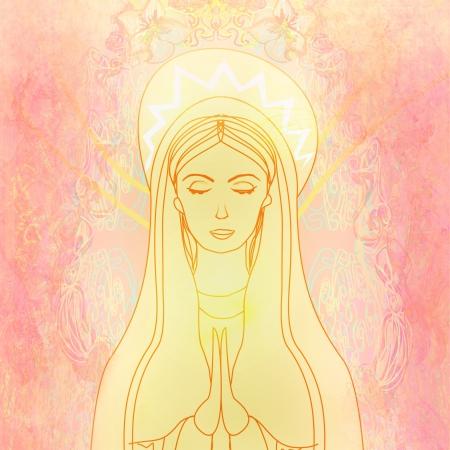 virgen maria: Sant�sima Virgen Mar�a Foto de archivo