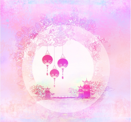 abstract Chinese landscape background Stock Photo - 17531089