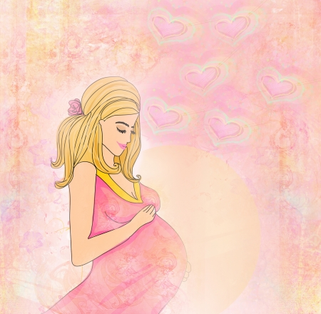 Beautiful pregnant girl background Stock Photo - 17531098