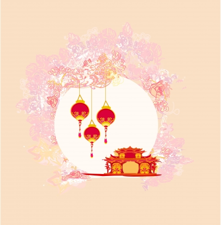 abstract Chinese landscape background  Vector
