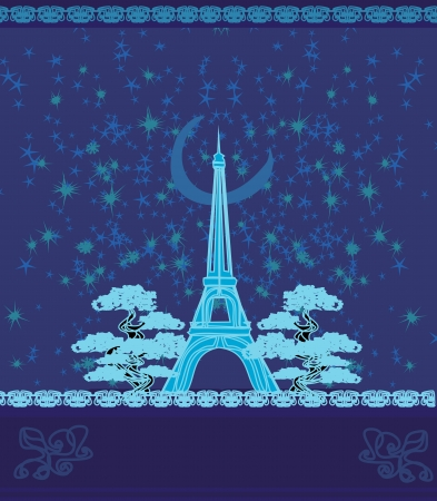 flower clip art: Paris In Night