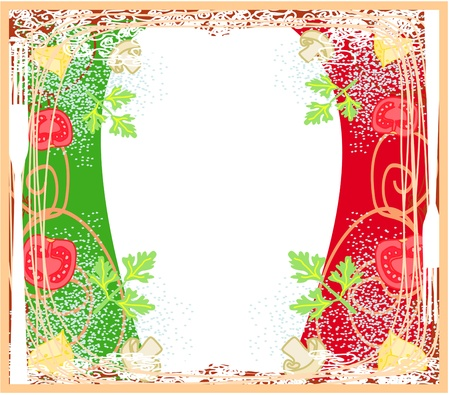pasta pattern - Vintage style  Stock Vector - 17667104