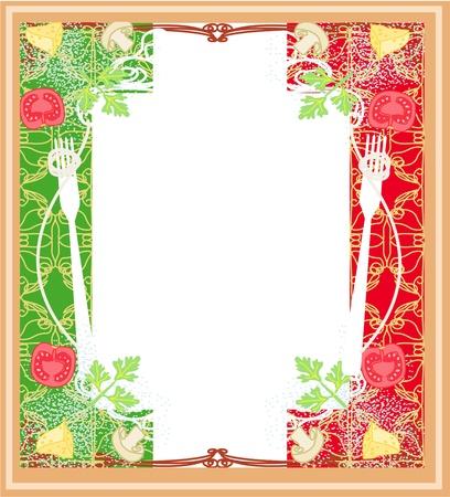pasta pattern - Vintage style  Stock Vector - 17667105