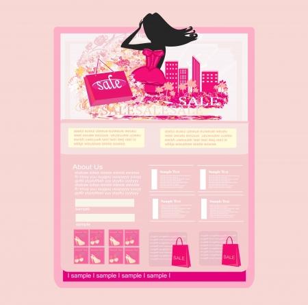 Fashion shopping Website template Stock Vector - 17667110