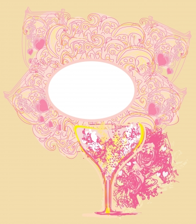 abstract frame design with cocktail. vector illustration  Vector