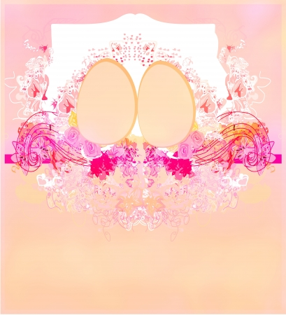 Easter Egg On floral Background  Stock Photo - 17667455