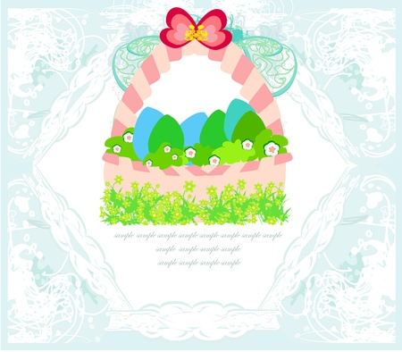 happy easter border.  Stock Vector - 17667456