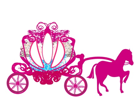 carriages:  vintage carriage - doodle icon