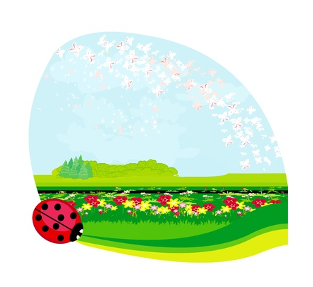 Nature spring/summer background - place for text  Stock Vector - 17667912