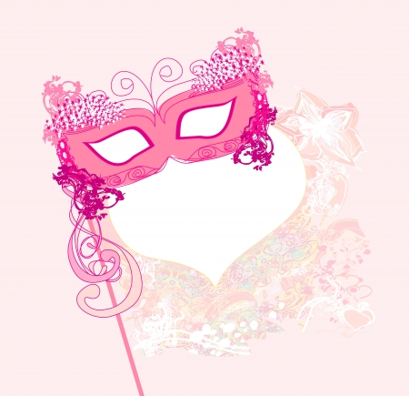 beauty mask: Carnival Mask Illustration