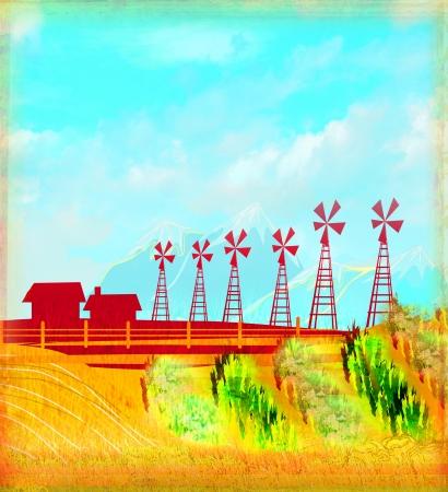 Eco farming - landscapes Stock Photo - 17778967