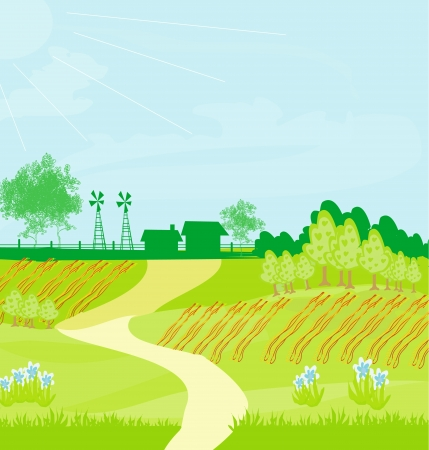 Eco farming - landscapes  Stock Vector - 17778976