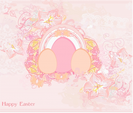 Easter Egg On floral Background  Stock Vector - 17779004