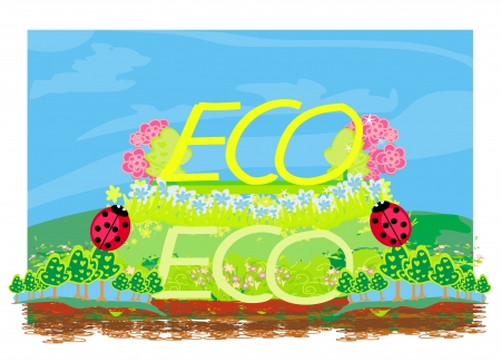 Eco label  Stock Vector - 17779006