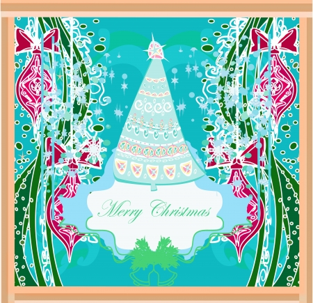 Abstract christmas tree card Stock Vector - 17779000
