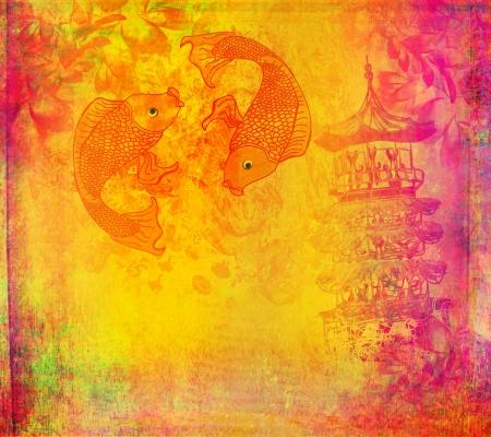 japanese koi background Stock Photo - 17779005