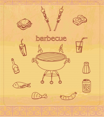 Vintage Barbecue Party Invitation  Stock Vector - 17779009