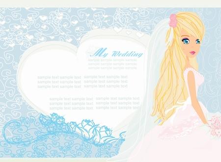 Beautiful bride card Stock Vector - 17935378