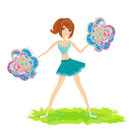 beautiful cheerleader illustration  Stock Vector - 17935377