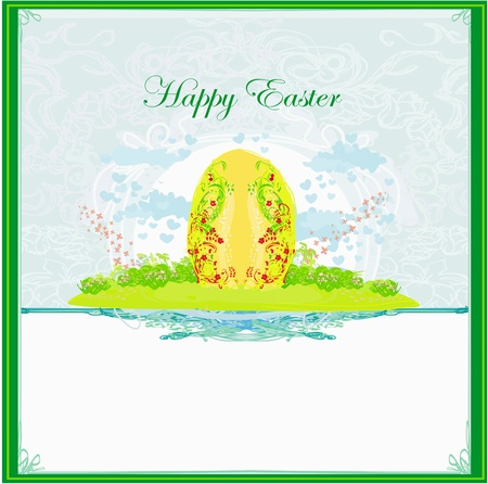 Easter Egg On floral Background  Stock Vector - 17935383