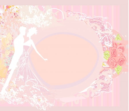 wedding dancing couple background Stock Vector - 17935395