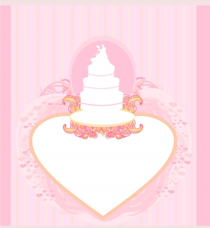 wedding cake card design  Stock Vector - 17935401