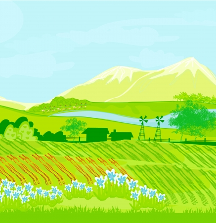 Eco farming - landscapes Stock Vector - 17935399