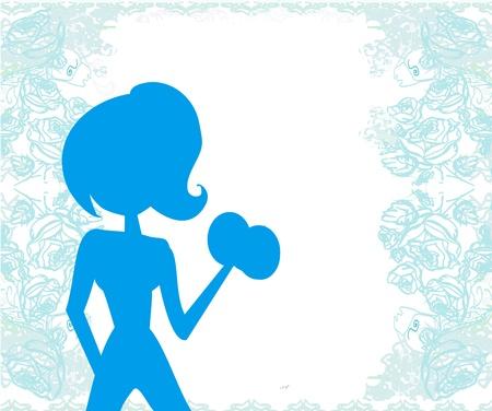 mujer ejercitandose: encajar mujer el ejercicio