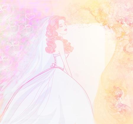 Beautiful bride card Stock Photo - 17936534