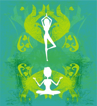 woman in a traditional yoga pose vector illustration  Vector