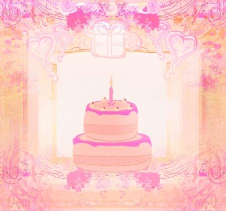 Happy Birthday Card - raster illustration