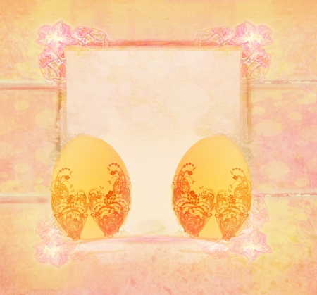 Easter Egg On floral Background  Stock Photo - 18111155