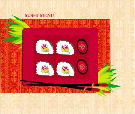 Template Design of Asian Menu