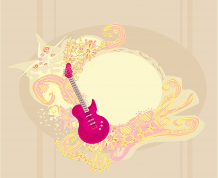 vector image of pink guitar with wide area for your information. Stock Vector - 18246176