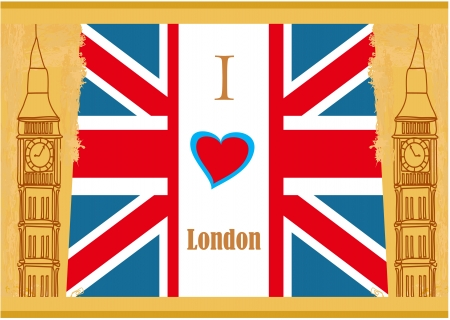 Grunge banner - i love London  Stock Vector - 18246192