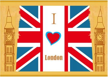 bigben: Grunge banner - i love London