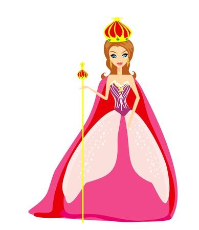 cetro: Una ilustraci�n de dibujos animados de la reina Vectores