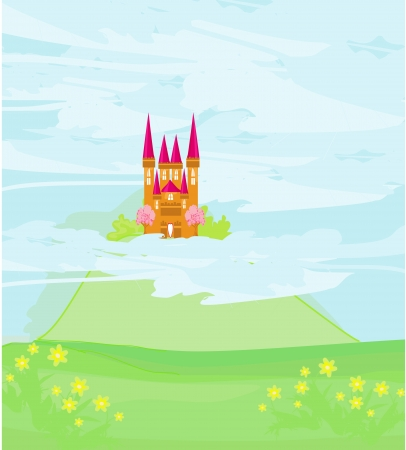 magic sky castle  Stock Vector - 18299365