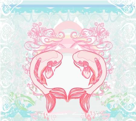 coi:  japanese koi  background  Illustration